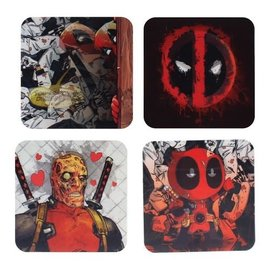 Paladone Sous-Verres - Marvel - Deadpool Lenticulaires Ensemble de 4