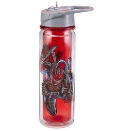 Vandor Travel Bottle - Marvel - Deadpool with Straw 18oz