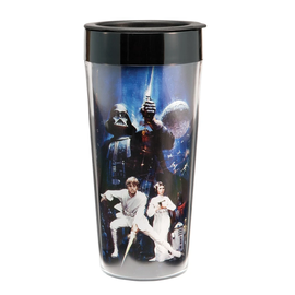 Vandor Tasse de voyage - Star Wars - In a Galaxy Far Far Away Isolante 16oz