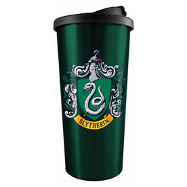 Spoontiques Travel Mug - Harry Potter - Slytherin Crest Insulating Stainless Steel 18oz