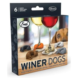 Fred Glass Markers - Winer Dogs - Dogs Pack of 6
