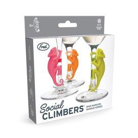 Fred Marque-verres - Social Climbers - Chaméléons Paquet de 6