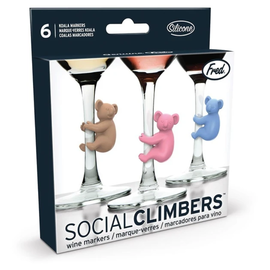 Fred Glass Markers - Social Climbers - Koalas Pack of 6