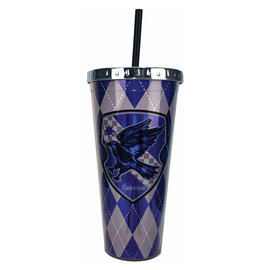 Spoontiques Travel Glass - Harry Potter - Ravenclaw Crest Insulating with Straw 20oz