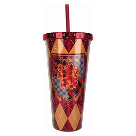 Spoontiques Travel Glass - Harry Potter - Gryffindor Crest Insulating with Straw 20oz