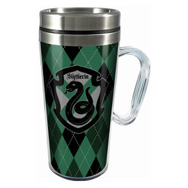 Spoontiques Travel Mug - Harry Potter - Slytherin Crest Insulating with Handle 16oz