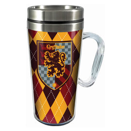 Spoontiques Travel Mug - Harry Potter - Gryffindor Crest Insulating with Handle 16oz