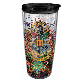 Spoontiques Travel Mug - Harry Potter - Hogwarts Crest with Glitters Insulating 16oz