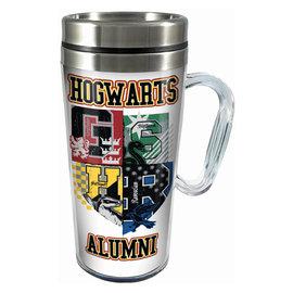 Spoontiques Travel Mug - Harry Potter - Hogwarts Alumni Insulating with Handle 16oz