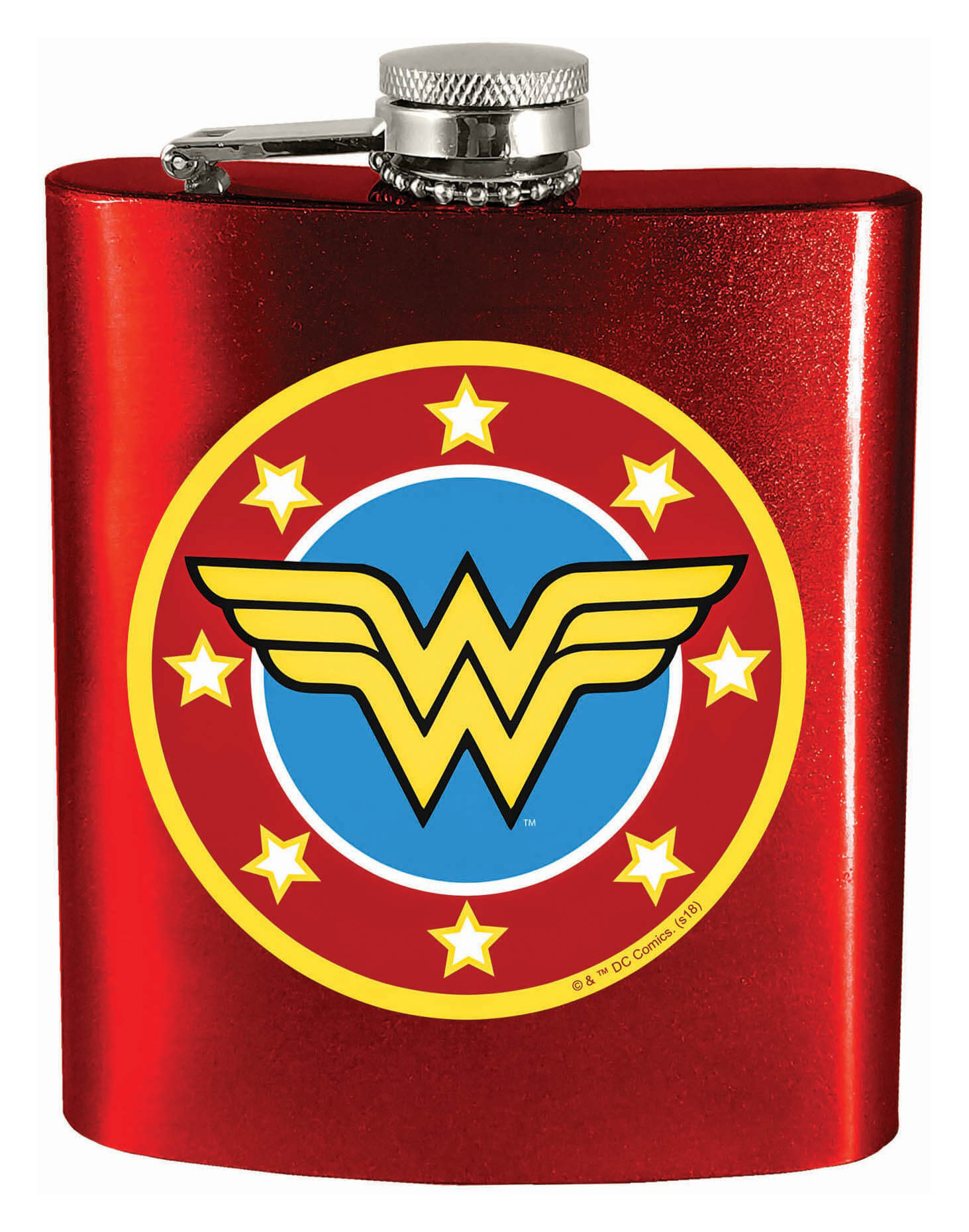 Flasque Dc Comics Logo Wonder Woman 7oz Chez Rhox Geek Stop