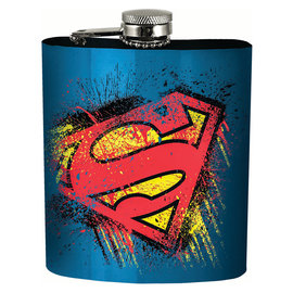 Spoontiques Flask - DC Comics - Superman Logo 7oz