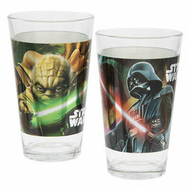Vandor Glass - Star Wars - Darth Vader and Yoda Holographic Set of 2 16oz