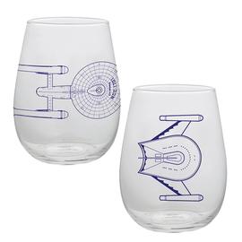 Vandor Glass - Star Trek - Star Ship Blue Prints Set of 2 17oz