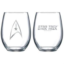 Vandor Glass - Star Trek - Command Logo Stemless Set of 2 17oz