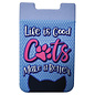 Spoontiques Accessoire pour téléphone - Chat - Life is Good Cats Make it Better Porte-Carte Autocollant