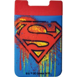 Spoontiques Phone Accessory - DC Comics - Superman Logo Sticky Card Holder