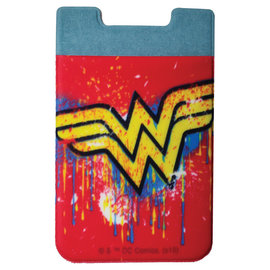 Spoontiques Phone Accessory - DC Comics - Wonder Woman Logo Sticky Card Holder