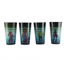 Surreal Entertainment Glass - Marvel - Guardians of the Galaxy Wanted Pack of 4