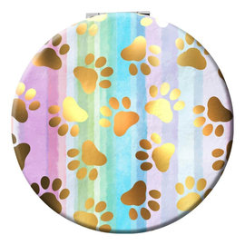 Spoontiques Compact Mirror - Animals - Paw Prints