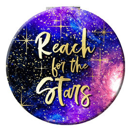 Spoontiques Compact Mirror - Galaxy - Reach for the stars