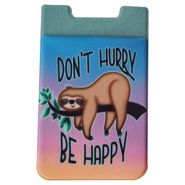 Spoontiques Phone Accessory - Sloth - Don't Hurry be Happy Sticky Card Holder