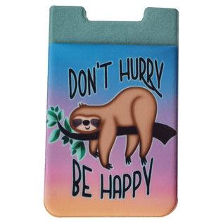 Spoontiques Accessoire pour téléphone - Paresseux - Don't Hurry be Happy Porte-Carte Autocollant