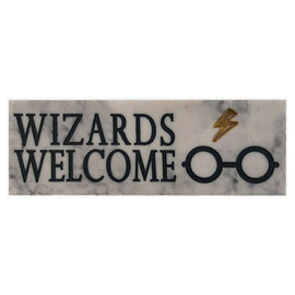 Spoontiques Desk Sign - Harry Potter - Wizards Welcome