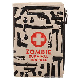 Bioworld Notebook - Zombies - Zombie Survival Canvas Journal with Pouch
