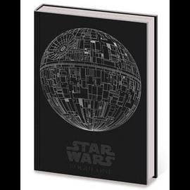 Pyramid America Carnet de Notes - Star Wars - En Faux Cuir Étoile de la Mort Argentée Brillante Deluxe