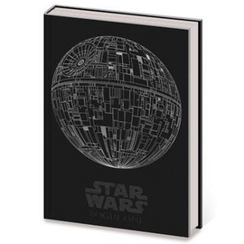 Pyramid America Notebook - Star Wars - Death Star Shiny Silver Pemium