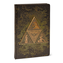 Pyramid America Carnet de Notes - The Legend of Zelda - Triforce en Métal Doré Brillant