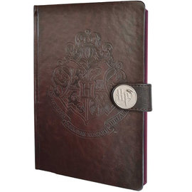 Pyramid America Notebook - Harry Potter - Hogwarts Crest Brown Faux Leather Premium