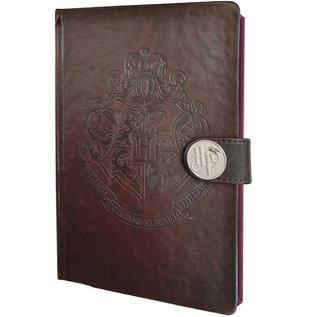 Pyramid America Carnet de Notes - Harry Potter - Blason de Poudlard en Faux Cuir Brun Deluxe