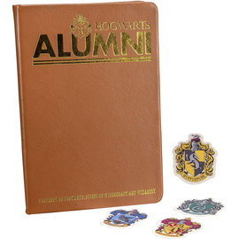 Paladone Notebook - Harry Potter - Hogwarts Alumni Faux Leather with Stickers