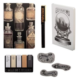Bioworld Carnet de notes - Harry Potter - Ensemble Cadeau Potion pour le Bureau Journal, Crayon, Effaces et Mémo