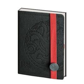 Pyramid America Carnet de notes - Game of Thrones - Faux Cuir Noir et Logo Targaryen en Métal Deluxe