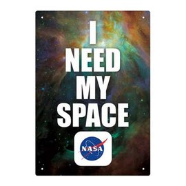 Aquarius Tin Sign - Nasa - I Need My Space