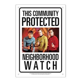 Aquarius Enseigne en métal - Star Trek - The Community Protected Neighborhood Watch