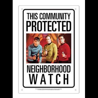 Aquarius Enseigne en métal - Star Trek - The Community Protected Neighborhood Watch