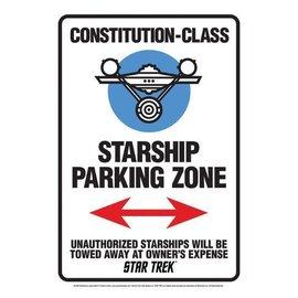 Aquarius Tin Sign - Star Trek - USS Enterprise Starship Parking Zone