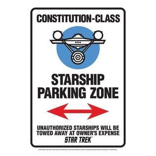 Aquarius Enseigne en métal - Star Trek - USS Enterprise Starship Parking Zone