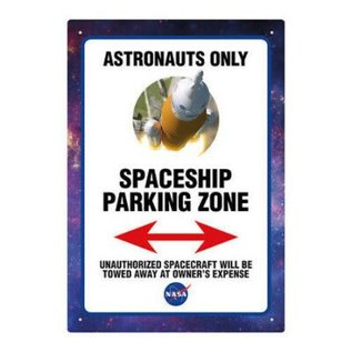Aquarius Enseigne en métal - Nasa - Astronauts Only Starship Parking Zone