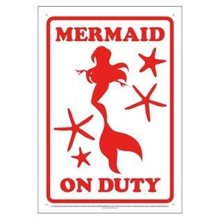 Aquarius Enseigne en métal - Sirène - Mermaid on Duty