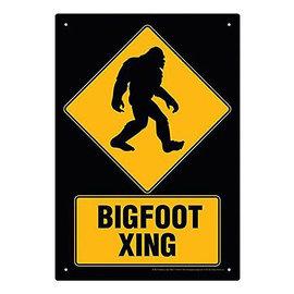 Aquarius Tin Sign  - Bigfoot - Bigfoot Crossing