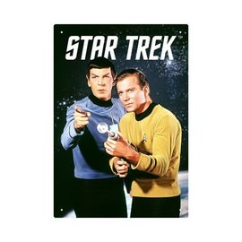 Aquarius Tin Sign - Star Trek - Captain Kirk & Mr. Spock