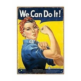 Aquarius Enseigne en métal - Smithsonian - Rosie The Riveter We Can Do It