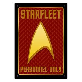 Aquarius Tin Sign - Star Trek - Starfleet Personnel Only