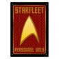Aquarius Enseigne en métal - Star Trek - Starfleet Personnel Only