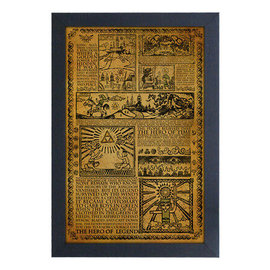 "Pyramid America Frame - The Legend of Zelda - Story of the Hero Gel Coated Framed Print 11x17"""