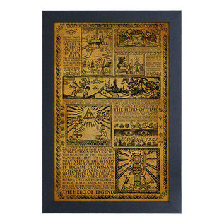 """Pyramid America Cadre - The Legend of Zelda - Story of the Hero Encadré Enduit de Gel 11x17"""""""